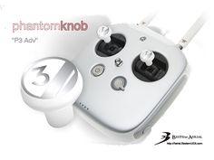 "PhantomKnob ""P3 Adv"" - Precision control knobs for DJI Phantom 1/2/3/ Inspire 1 controllers"