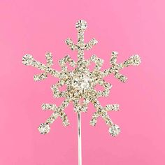 This sparkly crystal snowflake cake pick will make your Christmas or wedding cake sparkle. Wedding Cake Toppers, Wedding Cakes, Snowflake Cake, Cake Picks, Crystal Snowflakes, Wedding Attire, Dandelion, Sparkle, Make It Yourself