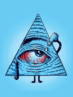 ☮ American Hippie Psychedelic Art ~ Even an all-seeing eye needs a rest Pop Art, Graffiti, Psychedelic Art, Illuminati, Dope Kunst, Weed Art, Street Art, Illustration Art, Creations