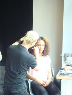 Make-up at one of our Manhattan Spa Parties