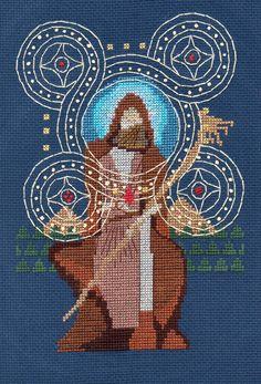 Carte de Tarot SOLAS Dragon Age Cross Stitch haute qualité carte de voeux ou carte postale Print