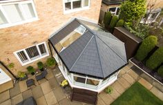 You won't have to settle for less. This conservatory roof has been designed to offer a lightweight tiled roof that achieves a standard of heat retention that allows your living area to remain comfortable and useable throughout the year. Glass Conservatory Roof, Replacement Conservatory Roof, Conservatory Prices, Conservatory Interiors, Conservatory Dining Room, Conservatory Extension, Conservatory Design, Prefab Extensions, House Extensions