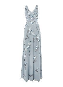 View product Adrianna Papell Dress V neck maxi