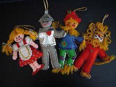 vintage Wizard of Oz ornaments