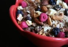 Coconut Almond Fruit Granola | Food Storage Recipes | This tasty granola includes berries, coconut, and almonds