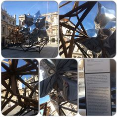 Caught a glimpse of Inflated Star and Wooden Star by #FrankStella at the #RoyalAcademyOfArts while I was on the bus. So I got off at the next stop to take a closer look. #art #awesome #burlingtonhouse #london #oldbondstreet #piccadilly #ra #sightseeing #travel #traveller #travelling #westminster