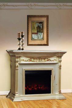 stunning victorian fireplace, make to slide out for secret passage entrance