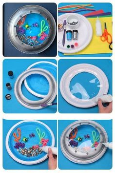 Fake Fish Tank Portholes :)    (through http://www.actividadeseducainfantil.blogspot.com.es/ facebook page so no idea where they go it - sorry) if someone tells me correct credit, i will edit :)