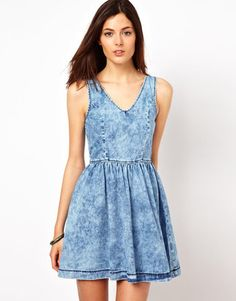 Warehouse Denim Skater Dress Warehouse