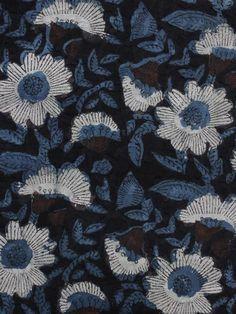 Indigo Black Brown Ivory Blue Hand Block Printed Cotton Fabric Per Meter - F001F1143  #fabric #Buyfabric #Onlinefabric #Newfabric #Buyonlinefabric #Shopfabric #Cottonfabric #blockprint #fabrics  #naturaldye #traditionalart #ethnic  #fashion #style #tyeanddye #New #indubindu