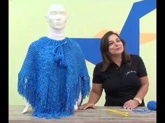 Poncho Fatima em tricô by Cristina Amaduro