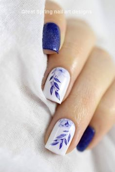 37 Cute Spring Nail Art Designs To Spruce Up Your Next Mani - Best Picture For Spring Nails lil. Cute Spring Nails, Spring Nail Art, Cute Nails, Pretty Nails, Nail Art Designs, Pedicure Designs, Nail Designs Spring, Hair And Nails, My Nails