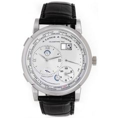 A. Lange & Sohne Lange 1 Time Zone Men's Platinum Manual Watch 116.025 | Portero Luxury