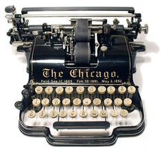 The Chicago  typewriter - 1899, www.antiquetypewriters.com by antique typewriters, via Flickr
