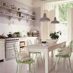 I do like this but my things are so richly colored - not sure it would gel... Lilac/lavender kitchenImages of dining rooms - myLusciousLife.com - kitchen dining.jpg