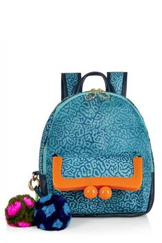 HOUSE OF HOLLAND s16 - Blue Calf Hair Backpack