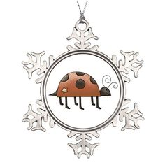Hipporal Large Christmas Tree Snowflake Ornaments Ladybugs Ladybug Gifts Santa Snowflake Ornaments *** This is an Amazon Affiliate link. Click image for more details.