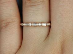 Ivanna White Gold Round & Baguette Diamonds by RosadosBox Wedding Band Diamond Rings, Diamond Jewelry, Gemstone Rings, Or Rose, Rose Gold, Ring Verlobung, Baguette Diamond, Diamond Are A Girls Best Friend, Eternity Bands