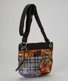 Karma Gray Sugar Skull Crossbody Bag