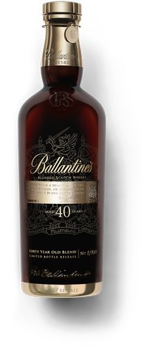 blended Scotch Whisky - 40 years old. A scotch whiskey renowned for its various and Ballantine's has deep roots and history. Tequila, Vodka, Cigars And Whiskey, Scotch Whiskey, Whiskey Bottle, Bourbon, Alcohol Bottles, Liquor Bottles, Gin