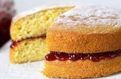 """Mary Berry Victoria sponge cake recipe - this gives options for 6"""", 7"""" or 8"""". Perfect for children's birthday cakes."""