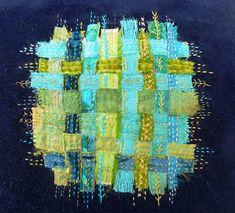 Linda Vincent: My Colours. Art Textile, Textile Artists, Boro Stitching, Creative Textiles, Fibre And Fabric, Kantha Stitch, Fabric Art, Fabric Weaving, Fabric Manipulation