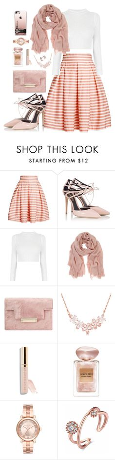 """Untitled #3"" by octopus77 ❤ liked on Polyvore featuring Rumour London, Fratelli Karida, Mint Velvet, Beautycounter, Giorgio Armani, Michael Kors and Casetify"