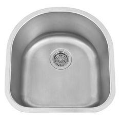 19 Infinite Curved Stainless Steel Undermount Bar Sink