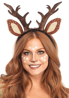 Complete your fawn costume with this pretty Fawn Ear Antler Headband! This headband features plush fawn antlers and ears.The Fawn Ear Antler Headband includes:*Headband Deer Halloween Costumes, Reindeer Costume, Christmas Costumes, Halloween Kostüm, Halloween Couples, Deer Halloween Makeup, Frozen Halloween, Native American Halloween Costume, Halloween Headband