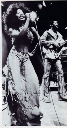 1970s funk gear. Rufus featuring Chaka Kahn. My brother Butch had history with Chaka...