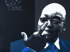 Portrait of Jacob Zuma, President of South Africa. Acrylic on canvas. 420mm x 297mm