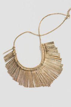 Leander Metal Fringe Necklace