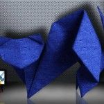 Origami Cat by Toshie Takahama  Origami Cat by Toshie Takahama Designer: Toshie Takahama Folder and Photo: @Origami_Kids Difficulty level: Easy Time to fold 45 min. 12 steps. Folded from a one square Crepe Paper Navy Blue  about 20cm x 20 cm. Diagrams on Classic  Continue reading   The post Origami Cat by Toshie Takahama appeared first on Origami Blog.