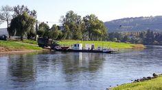 Soso. Also auch die grossen Landmaschinen nutzen die Fähre bei #Polle um die #Weser zu überqueren.