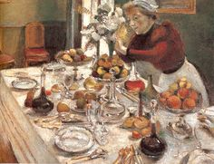 THE DINNER TABLE  100 x 131 cm.  Private Collection   1896-1897