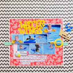 Water Wings by Christy Strickler- My Scrapbook Evolution