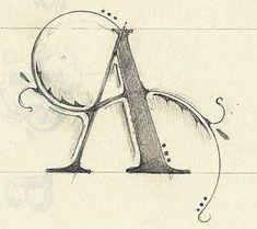 Letter A .✍ Sensual Calligraphy Scripts ✍ initials, typography styles and calligraphic art -.✍ Sensual Calligraphy Scripts ✍ initials, typography styles and calligraphic art - Creative Lettering, Lettering Styles, Lettering Design, Hand Lettering, Lettering Ideas, Doodle Lettering, Calligraphy Letters, Typography Letters, Typography Poster