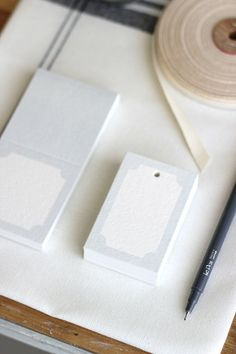 Simple Place Cards to keep at home for special occasions - Can be used as gift tags, too.