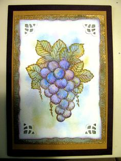 Grapes by Holly Berry House Originals  Colored with watercolor pencils