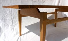 Wooden coffee table with floating top made of oak and brown oak by David Towers cabinet-maker www.davidtowers.biz