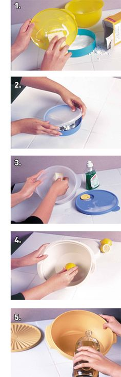 How to remove smells from Tupperware.