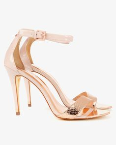 Ankle strap sandals - Rose Gold | Shoes | Ted Baker