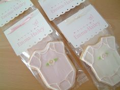 Favor packaging for baby shower #cookies #favors