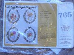 "Vintage Hibiscus Flowers Embroidery Kit by Creative Circle from 1981 Unopened Beginner Kit 2 3/4"" x 3 1/2"""