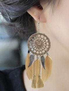 SKU Metal Alloy Pattern Type Tasseled/Feathers Stone Cut NA Number of Stone NA Occasion Souvenir/Pledge/Gift Amount cheermo dreamcatcher statement earrings purple one size Striped Evening Dresses, Long Dresses, Maxi Dresses, Elegant Dresses, Wedding Dresses, Tassel Earrings, Dangle Earrings, White Earrings, Feather Earrings