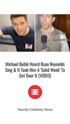 Click here👆👆👆 for the full article! Michael Buble, Ryan Reynolds, Get Over It, We Movie, Hit Songs, Singing, Grace Kelly, Take That, Musicals