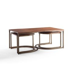 Hives and Honey Lincoln Walnut Veneer Nesting Tables | Overstock.com Shopping - The Best Deals on Coffee, Sofa & End Tables