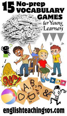 No-prep ESL Vocabulary Games for Kids   English Teaching 101