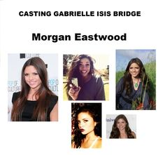 Next we have #morganeastwood She is starting but she has the looks and if she inherited her father's acting chops she will be great in the story.