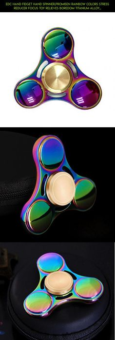 EDC Hand Fidget Hand Spinner,Promisen Rainbow Colors Stress Reducer Focus Toy Relieves Boredom Titanium Alloy Bearing #racing #drone #fpv #colors #products #spinner #kit #tech #gadgets #parts #titanium #technology #plans #camera #shopping